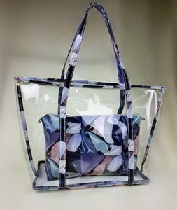 The Clear Floral Tote