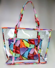Load image into Gallery viewer, The Clear Floral Tote