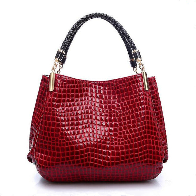 Crocodile Grain Handbag
