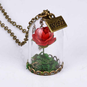 Enchanted Rose Necklace *Wish Charm*