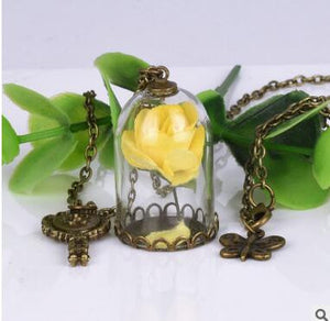 Enchanted Rose Necklace *Mirror Charm*