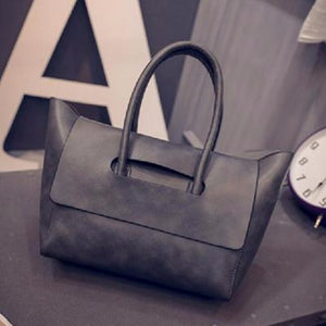 Flap Over Tote (Synthetic Leather)