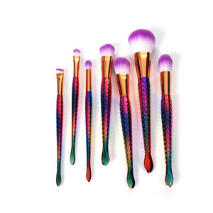 Mermaid Makeup Brush Set (7/8 Pcs)