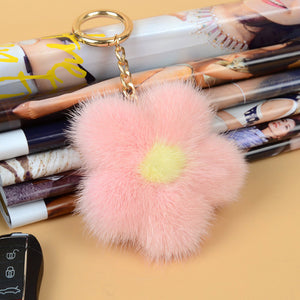 Fluffy Flower Keychain