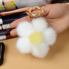Load image into Gallery viewer, Fluffy Flower Keychain