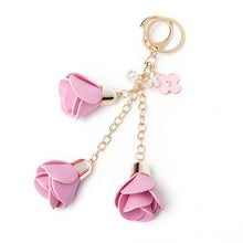 Load image into Gallery viewer, Rose Tassel Key Chain