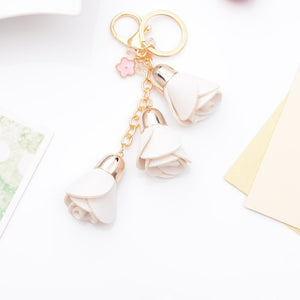 Rose Tassel Key Chain