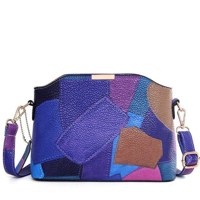 Patchwork Messenger Bag