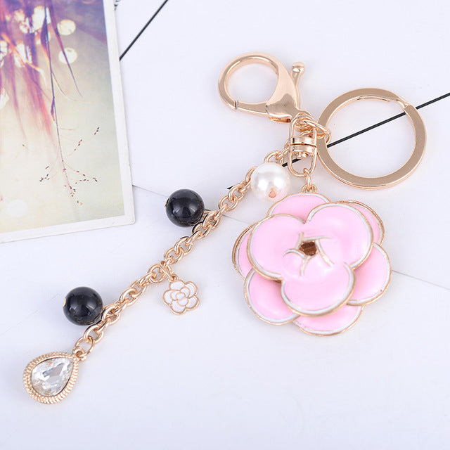 Flower Beads Keychain