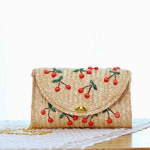 Cherry & Heart Clutch Bag