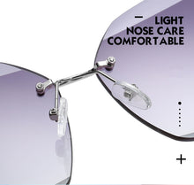 Load image into Gallery viewer, Rimless Diamond Cutting Lens Sunglasses