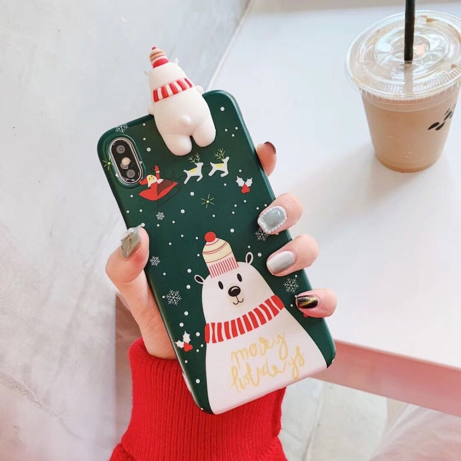 Luxury 3D Christmas Phone Case