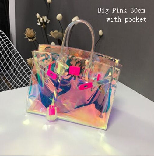 Eco-Friendly Jelly Handbag (Holographic)