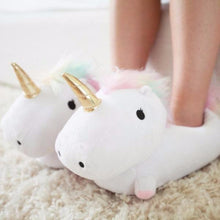 Load image into Gallery viewer, Unicorn Plushie Slippers