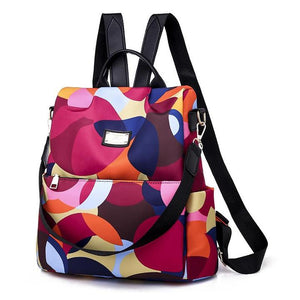 Abstract Pattern Printing Anti-Theft Backpack