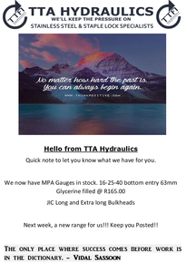 April Newsletter | TTA Hydraulics