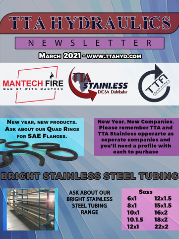 Stainless Steel Hydraulics, Stainless Steel Tubing, TTA Stainless