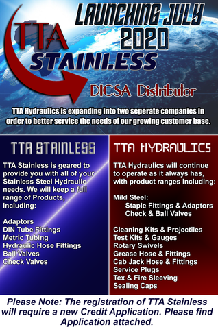 Stainless Steel Hydraulics, TTA Hydraulics