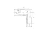 JIC to NPT Male Elbow Adaptor, E-MJ-MN-90