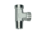 Stud Barrel Tee Piece Connector to BSP Taper, LL Series Super Light, LE-LLRK-T