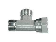 BSP Swivel Tee Piece Female on Run Adaptor, MB-MB-FB