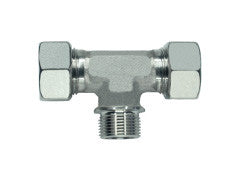 Stud Branch Tee Piece Connector to BSP Parallel, L Series Light, TE-LR-T