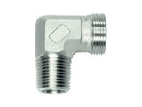 Stud Elbow Connector to BSP Taper, LL Series Super Light, WE-LLRK-90
