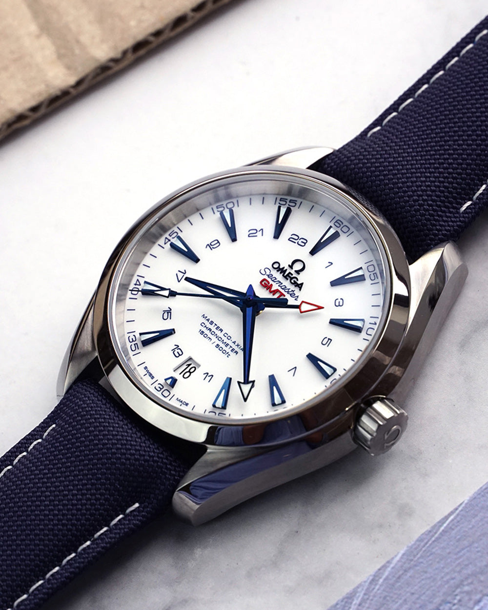 Seamaster Aqua Terra 150M Master Co-Axial GMT - Luxtime - Fine Watches