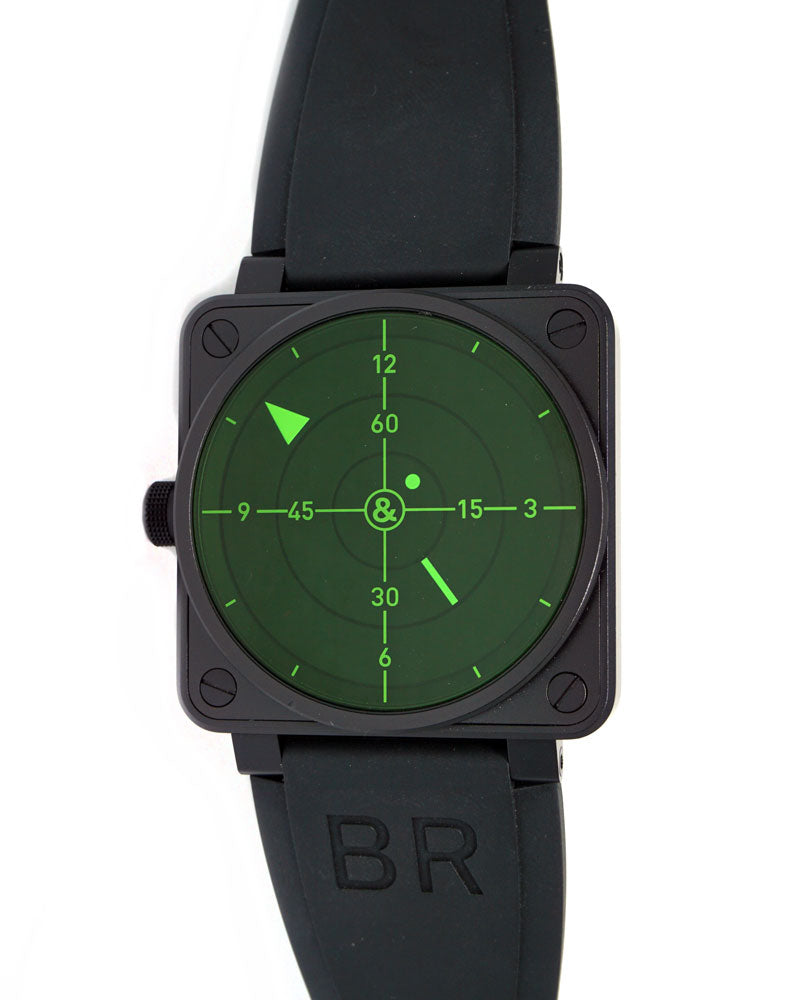 BR01-92 Radar Lefty Green Limited Edition - Luxtime - Fine Watches