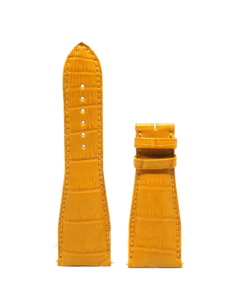 Yellow Alligator Strap - Luxtime - Fine Watches