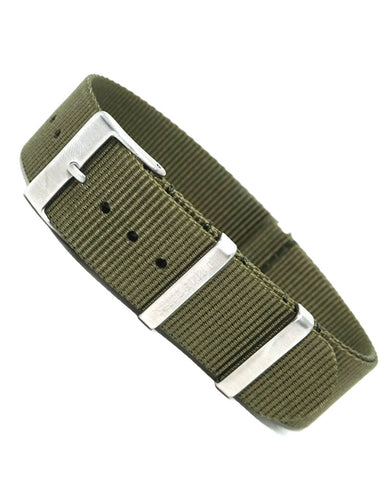 Olive Green - 20mm - Luxtime - Fine Watches