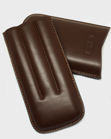 Tan Leather Cigar Holder
