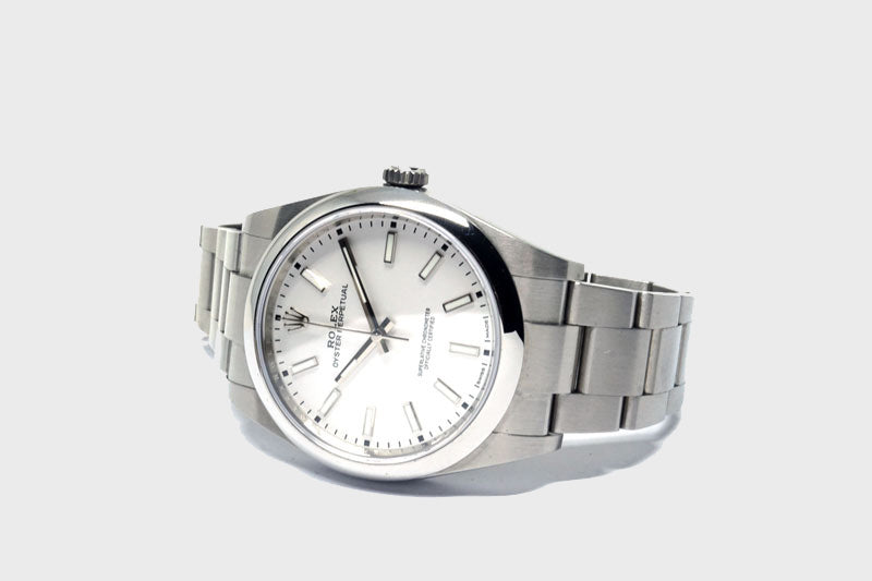 Oyster Perpetual 39 White Dial - Luxtime - Fine Watches