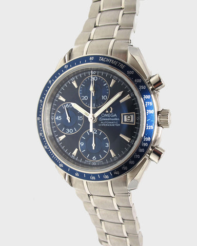 Speedmaster Date Steel Blue Automatic - Luxtime - Fine Watches