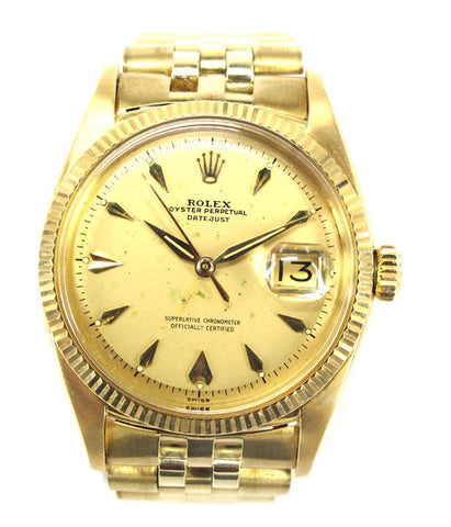 Oyster Perpetual Datejust 18K (Excellent) - Luxtime - Fine Watches
