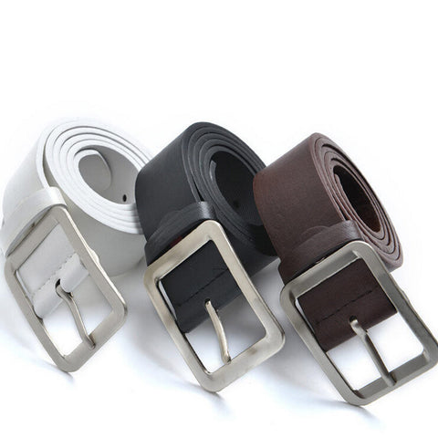 New Stylish Men's Casual Faux Leather Belt Buckle Waist Strap Luxury Belts