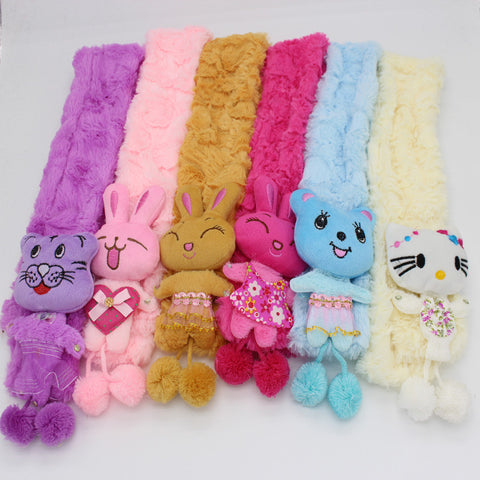 Lovely Baby Scarf   Cartoon Decoration Solid Color