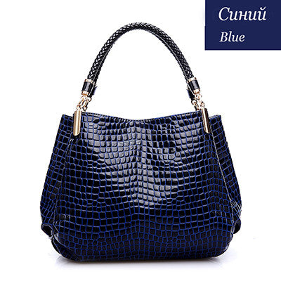 Alligator Leather Women Handbag  Fashion Famous Brands Shoulder  Ladies  Bag