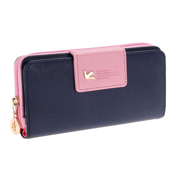 Fashion Women Leather Wallet Women's Clutch Bag Hasp Wallet Zipper Long Purses Card Holder