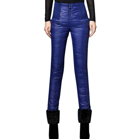 High Waisted Women Pants Trousers Fashion Slim Warm Thick Duck Down Pants
