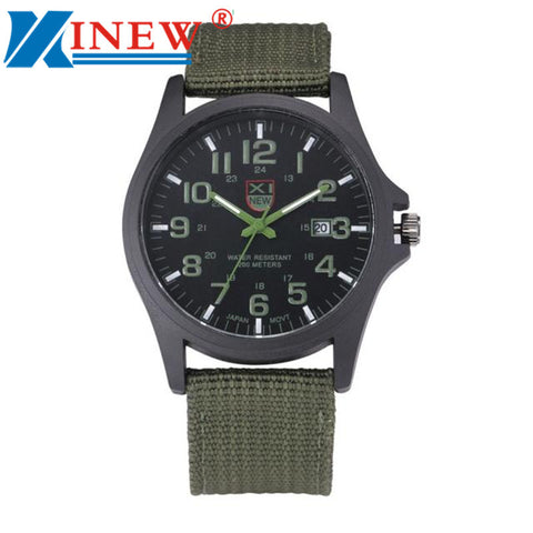 Fashion Luxury Outdoor Sports Men's Watch Calendar Date Mens Steel Analog Quartz Military Watches