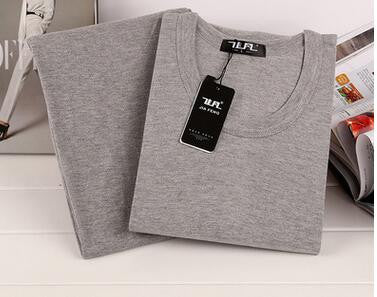 Best quality  brand Gray men Thermal underwear cashmere o-neck long johns