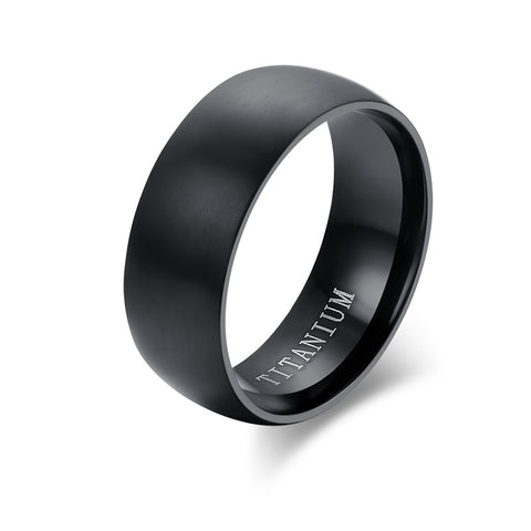 Meaeguet Fashion Men Titanium Ring High Quality Black