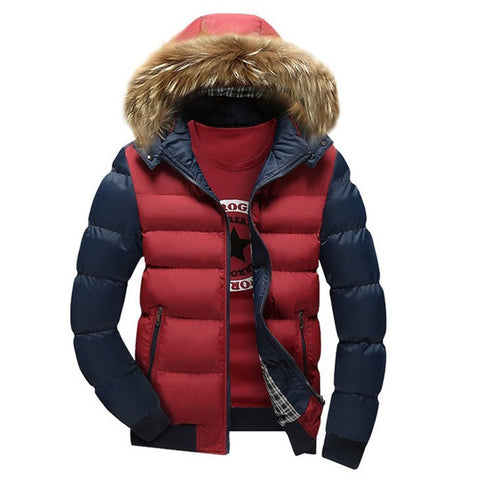 New Arrival Men Jacket Warm cotton coat mens casual hooded jackets Handsome Outwear t