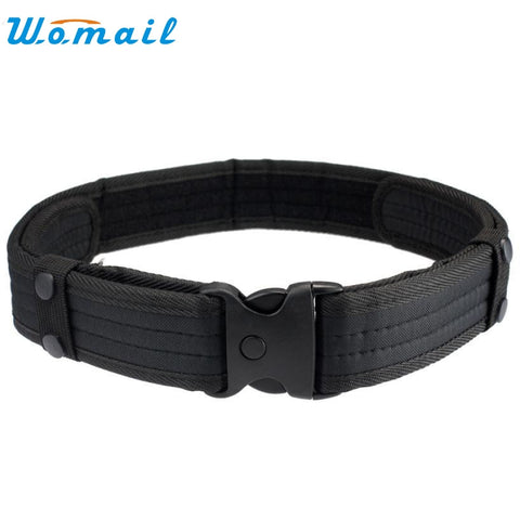 Men 50 cm length  Nylon black Woodland Camo Waistband Tactical Hunting Outdoor Sports Field Belt