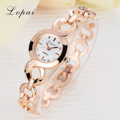 Brand Stainess Steel Watches Girls Quartz Watch Bracelet Watch Ladies Fashion Women