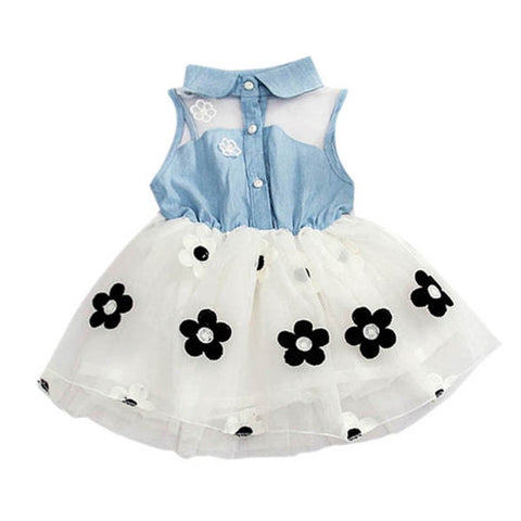 Baby Girl Denim Top Sleeveless Age 0-24 months