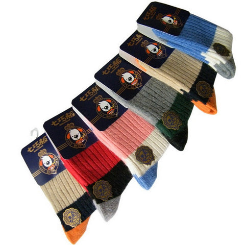 New Arrival Baby Kids Woolen Thick Socks 5 Pairs/Lot for Children 1-15 Years Boys & Girls