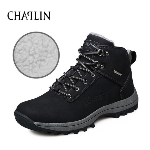 Fashion Men Casual Boots Comfortable Lace-up Male Zapatos Round Toe Boots Solid Shoes