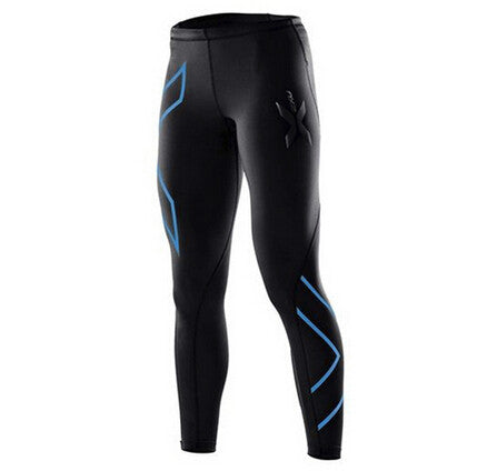 Womens Compression Tights Pants Fitness Pant High Elastic Sweat blue dance jogges Pants